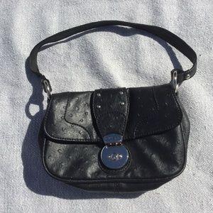 Guess black clutch purse